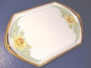 Czechoslovakia 1929 MZ Altrohlau CM-R Czech porelain tray open handles china dish plate