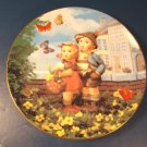 Surprise M. J. M. I. Hummel plate 1992 Goebel kids butterfly Little Companions Danbury Mint box COA