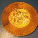 ANRI FERRANDIZ 1972 CHRISTMAS PLATE ANGEL BABY JESUS NATIVITY MANGER CRADLE N.0148 ITALY WOOD WOODEN
