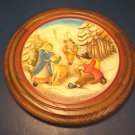 Anri 1979 Christmas wood carved plate The Moss Gatherers of Villnoess handcrafted Italy No. 2172
