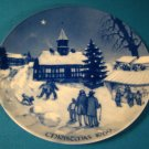 Royale Blue Winter China Christmas Fair in Ebeltoft Denmark plate 1969 Germany porcelain