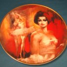 Crown Parian Reve de Ballet ballerina dancer plate artist Julian Ritter porcelain china 1979