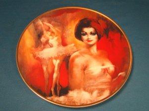 Crown Parian Reve de Ballet ballerina dancer plate artist Julian Ritter porcelain china 1979