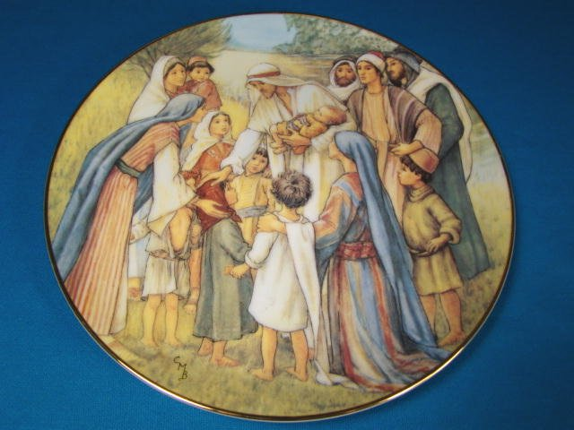 Love Divine plate Cicely Mary Barker 1989 W. S. George Beloved Hymns of Childhood porcelain
