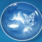 1971 Mother's Day B&G Bing and Grondahl Mors Dag 3rd plate Denmark blue white cat kitten