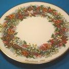 Lenox Colonial Christmas Wreath annual plate Virginia first colony 1981 holly berries mistletoe