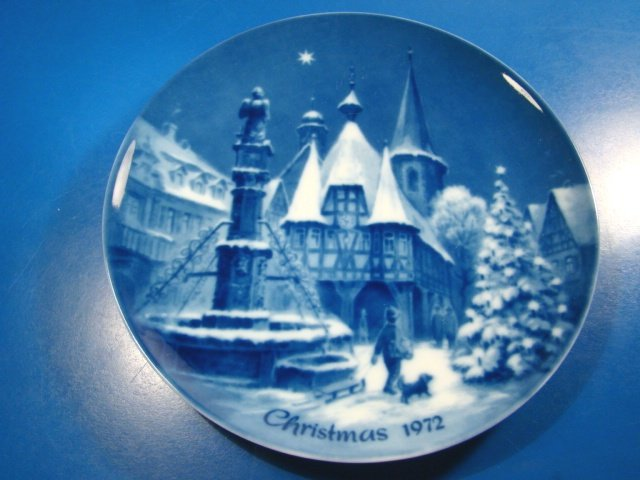 Christmas Eve In Michelstadt Genuine Blue China Berlin
