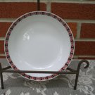 One Mikasa China Ovide 5007 Soup Bowl Ben Seibel Black & Red