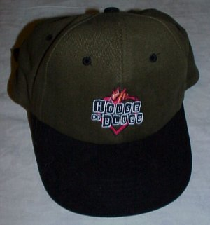 HOUSE OF BLUES Chicago Army Green & Black Baseball Cap Hat