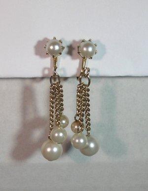 Signed Coro Pearl Drop Earrings