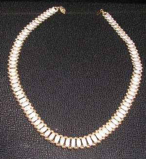 Exquisite Freshwater Pearl Choker with 14K gold