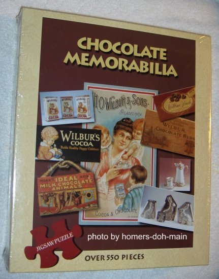 Wilbur Chocolate Memorabilia 550 Piece Jigsaw Puzzle GAPF Sealed NEW