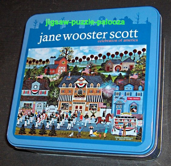 Jane Wooster Scott 1000 Piece Jigsaw Puzzle in Tin Celebration of America Ceaco 3314-9 COMPLETE 2006