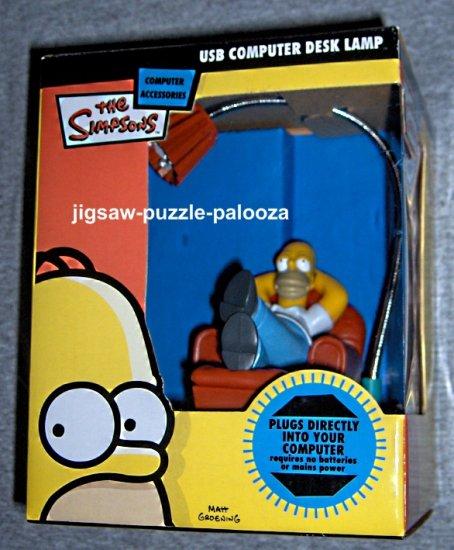 SOLD Homer Simpson USB Computer Desk Lamp The Simpsons Fox TV NEW NIB