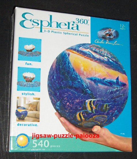 SOLD - Esphera 3D Spherical 540 Piece Jigsaw Puzzle - Reef of Miracles - Christian Lassen - NEW