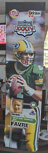 FOR SALE - Brett Favre Promotional Ad Display Piece - Green Bay Packers - NFL