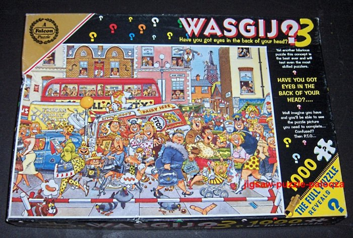 """SOLD - Wasgij 1000 Piece Jigsaw Puzzle #3 - """"The Full Monty Fever"""" - #3857 - COMPLETE"""