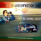 Jeff Gordon 24 Pepsi Car Motion Lenticular Store Display Sign x2 Promo Ad 48 x 40 Frito Lay NASCAR