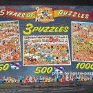 Jan Van Haasteren 3-in-1 Sports Jigsaw Puzzle Set 25 Years of Puzzles Jumbo 1490 SEALED Bags
