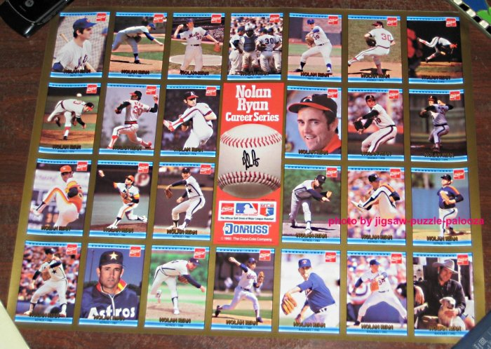 Nolan Ryan Career Series Baseball Card Poster Donruss