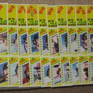 Squirt Baseball Card Panel Set of 22 / 1982 / Rose / Schmidt / Fisk / Brett / Jackson