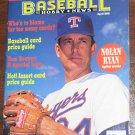 Baseball Hobby News Magazine - Nolan Ryan Cover - April 1992 - Card Price Guide - BHN
