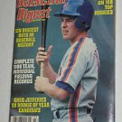 Baseball Digest Magazine - Greg Jefferies Cover - March 1989 - New York Mets