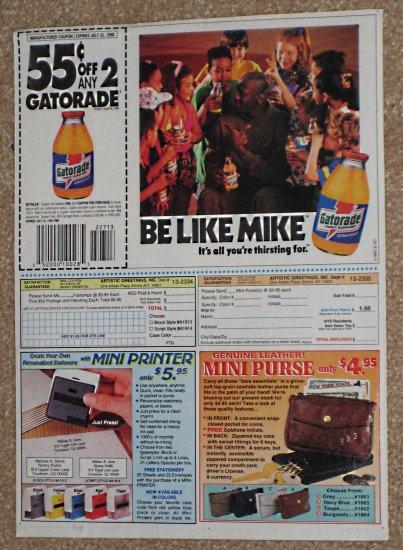 Michael Jordan Original Newspaper Ad - Gatorade Thirst Quencher - Bulls - 1992