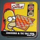 The Simpsons - Checkers & Tic Tac Toe Game Set  Tin - Duff Beer