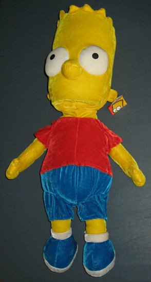 sold - the simpsons - bart simpson 24 u0026quot  plush doll