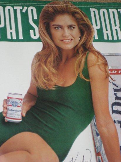 Sold Kathy Ireland Budweiser Beer Vinyl Banner Bud Light
