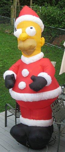 Sold Homer Simpson 8 Feet Tall Inflatable Santa Claus