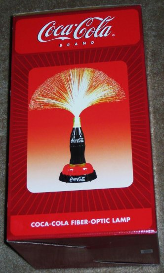 Coca Cola Fiber Optic Contour Bottle Table Desk Lamp E Novelty Nib New In Box