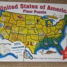 Melissa & Doug Puzzle Lot United States of America Floor 48 Jumbo Pieces USA Map ABC Alphabet Train