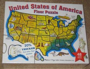 Melissa Doug Puzzle Lot United States Of America Floor 48