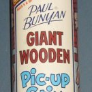 Vintage Paul Bunyan Giant Wooden Pic-up Stix - Steven Mfg #437 - Canister - 1978
