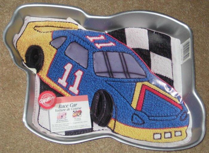 SOLD Wilton Cake Pan - Race Car - Nascar - 2105-1350 - Aluminum - 1997
