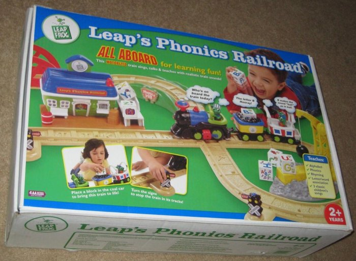 SOLD - Leap's Phonics Railroad - Leap Frog - Motorized Train - 21025 - Alphabet - 2002