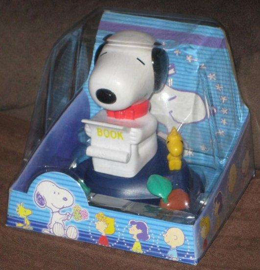 SOLD Snoopy Desktop Friends Head Bobber / Nodder - Solar Powered - Woodstock - Peanuts Gang