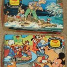 Bantam Pocket Picture Jigsaw Puzzle Lot of 2 Pinocchio Mickey Mouse Disney Jaymar Vintage
