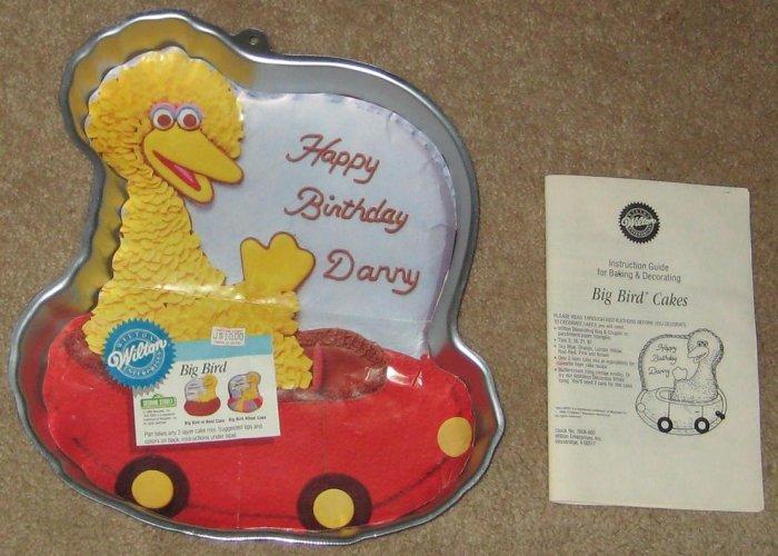 Wilton Aluminum Cake Pan + Insert + Instructions - Big Bird - 2105 805 - Sesame Street - Muppets