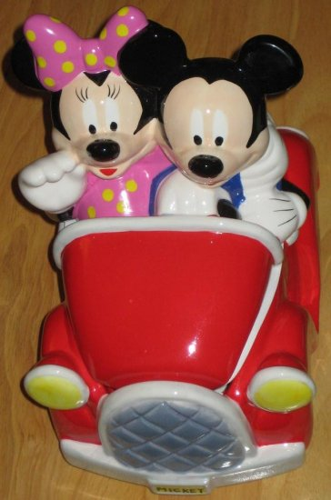 Virginia Car Tax >> SOLD Mickey & Minnie Mouse Car / Jalopy Ceramic Cookie Jar ...