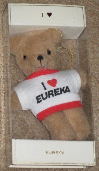 I Love Eureka Plush Teddy Bear - No Dirt - Vacuum Cleaner