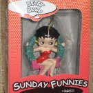 Betty Boop Christmas Wreath Ceramic Ornament - Enesco - Sunday Funnies - 1999