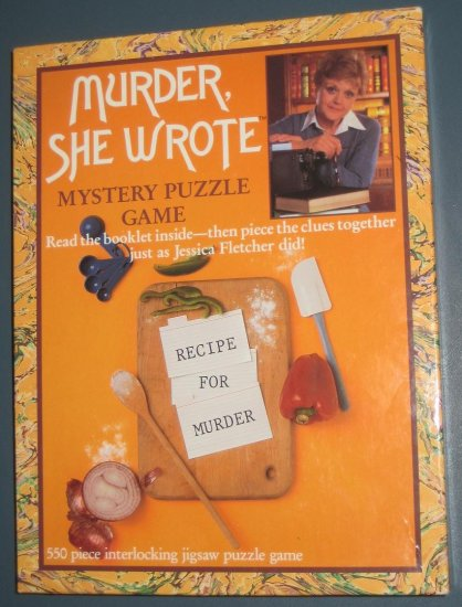 SOLD Murder She Wrote Mystery Puzzle Game - Recipe For Murder - 550 Pieces - SEALED