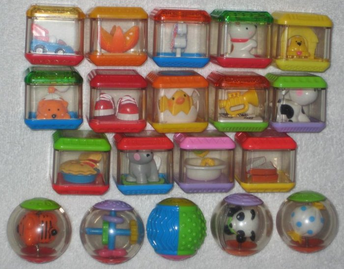 SOLD Fisher-Price Incrediblocks + Peek-a-Blocks + Roll-a-Rounds - Lot of 51 - FP