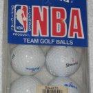 NBA Team Golf Balls - Washington Bullets - Spalding - Package of 6 Basketball