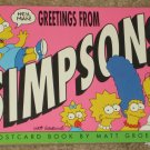 Greetings From The Simpsons Postcard / Post Card Book - Springfield - 1990