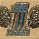 Harley Davidson Motorcycles Lapel Pins - Lot of 2 - Wings - #1 - Orange Shield