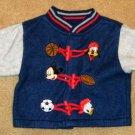 Disney 6/9 Months Spun Polyester Shirt / Pants Set - Mickey Mouse - EUC